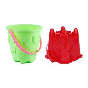 2pcs Sandcastle Molds Sand Castle Beach Bucket Toy Kids Outdoor Summer Toys