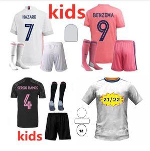 20 21 Kity Kit Kit Sergio Ramos Hazard Футбол Джетки 2020/21 Real Madrid Isco Модрик Asensio Kroos Vinicius JR Футбольная футболка CamiSeta Ea Sport