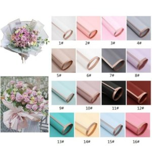 Flower Wrapped Paper 20pcs Pack 60*60CM Christmas Wedding Valentine Day Waterproof Bronzing Flower Gift Wrapping Paper CA13