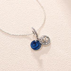 Стерлинговое серебро Высокая версия 1: 1 звездочный Sky Ожерелье Цветочная цепочка цепи Ожерелье0
