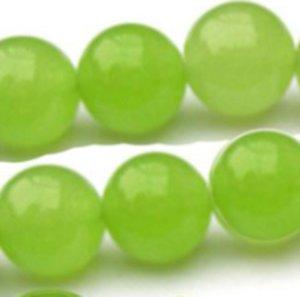 6mm grüner Peridot-Edelstein-runder losen Perlen 15 '' 711 T2