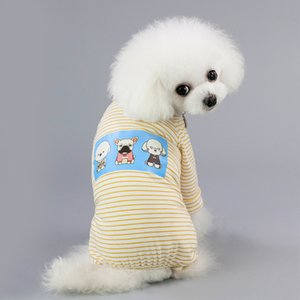 Pet dog apparel Clothes Small Cotton Jumpsuit Chihuahua Yorkie Overalls Striped Pajamas for Dogs Puppy French Bulldog Clothing