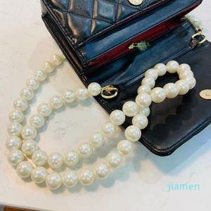 Designer- Womenbags spring and summer fashion small   big pearl chain diamond bag