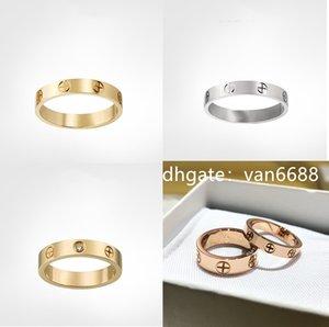 Ladies Love rings Pendant Necklaces Screw Bracelet Van Party Wedding Couple Gift Love Bracelet Fashion Luxury Cleef Designer carti Bracelet with box 299