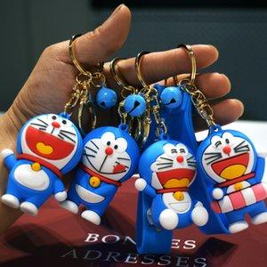 만화 Doraemon Dingdang Cat 키 PVC 크리 에이 티브 연인 Schoolbag 펜던트 자동차 링 액세서리