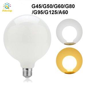 Bulbos LED lácteos G45 G50 G60 A60 G80 G95 G125 E27 Lámpara de bombilla de bolas de globo para el hogar Luces de iluminación de mesa de araña