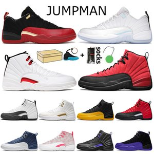 2021 With Box 12s Basketball Shoes Top Quality Mens Womens Trainers Jumpman 12 Sports Sneakers Low Easter Bowl XII Stone Blue Twist Flu Game University Gold