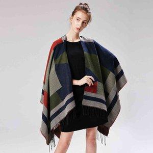 Luxury Brand scarves shawls Lady Shawls 2021 New Wraps Tassels Pashmina Autumn Winter Imitation Cashmere Geometric Jacqu