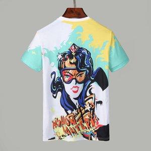 2021 Moda Taç Kral Tasarımcılar Erkek T-Shirt # 017 Avrupa Milan Yaz Kısa Kollu Stilist Klasik Kraliyet Streetwear Casual Erkek Tees Tops