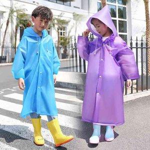 Children's girls' kindergarten boys' transparent waterproof outdoor poncho pupils' children's raincoat
