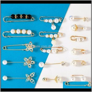Pins Pearl Brooch Antiglare Buckle Small Pin To Fix Clothes Lapel Badge Brooches Broches De Créateurs Will And Sandy Drop Ship Z7 Hhole