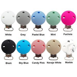 Chenkai 10 adet Silikon Yuvarlak Diş Kaşları Klipler DIY Bebek Emzik Kukla Diş Çıkarma Suring Hemşirelik Oyuncak Zincir Tutucu Klipler BPA Ücretsiz 210407