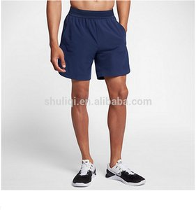 jumping shorts water-repellent or lifting Perforated Binary running, Blue; flex dry US Men's 8' two-in-shorts