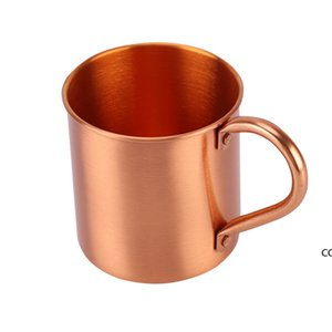 100% Cobre Puro Canecas Moscovo Mule Copa 15oz para Cocktail Café Cerveja Leite Water Kitchen Glasses 420ml Dha7595