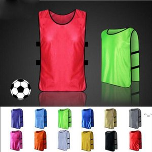 Men's blank soccer team against bibs football training jerseys high quality men's soccer shirt sports group against vest OWC7284