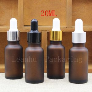 Storage Bottles & Jars Frosted Brown Essential Oil Bottle,Empty Cosmetic Containers,Refillable Glass Perfume Makeup Bottles, Dropper