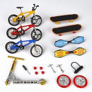 Diecast Model Cars Bike mini disassembly finger bicycle scooter creative simulation DIY skateboard roller skating