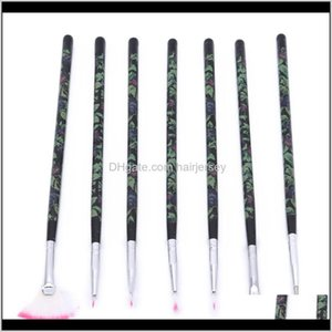 Salon Health Beauty Drop Delivery 2021 Fashion 7Pcs Painting Brush Darwing Brushes Set Dotting Pen Liner Stripe Gradient Tools Nail Art Acces