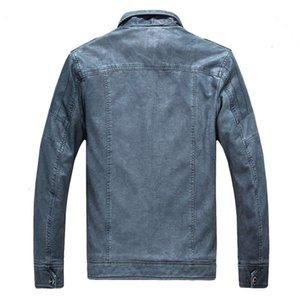 Man Winter Jacket Leather Jacket Monclair Unshaven Fashion- Nationalday Leather Genuine Washed Men's Windbreaker Ruede