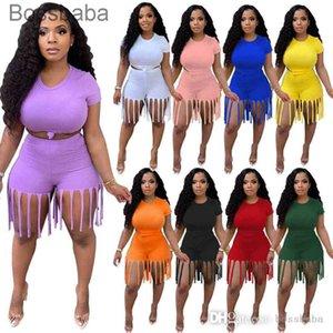 Женщины Двухструктурные брюки Дизайнеры ScoreSuits Летние Шорты Кисточкой Одежда Топ набор плюс Размер Женская Одежда Женская Одежда Иога Наряды Безвозмездная Костюмы 826