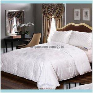 Bedding Supplies Textiles Home Gardenluxury White Comforter With Cotton Er Ultra Soft Breathable Duvet Quilt Custom Size Filler For All Seas