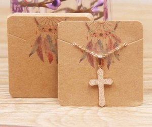 2021 Exquisite Necklace card square 5 * 5cm 300g paper cards printing various patterns choose jewelry 5*5cm 007