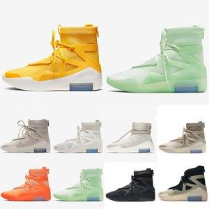 2021 공포 킹 신발 1 농구 부츠 신발 신발 남성 여성 안개 검은 노란색 흰색 스포츠 스니커즈 부츠 트레이너 40-45