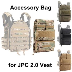Stuff Sacks Tactical Vest Backpack Zip-on Panel Accessory Bag Plate Carrier Pouch For JPC 2.0