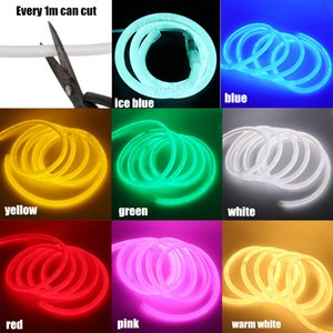 50m lot DC 12V Neon Strip IP67 Waterproof 360 Degree Round Lighting Neon Sign Light 14mm Soft Rope Flexible 2835 Led Strip