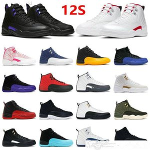 Top Quality Jumpman 12s Shoes 12 Twist Low Easter Ice Cream Indigo Blue Dark Concord Reverse Taxi Flu Game University Gold Sports Trainers Sneakers