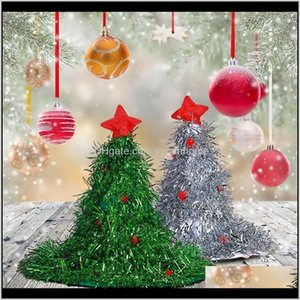 Decorations Glowing Tree Cap Women Men Costume Santa Hat Christmas Party Ornaments For Kid Adult Year Gifts Voauj Qxix4