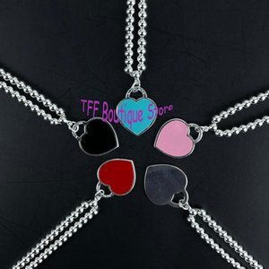 Chains Brand Design 4mm Bead Necklace Logo Relief Custom 925 Sterling Silver Ball Heart Luxury