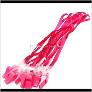 10 Pcslot Pink Hen Fluffy Whistles With Strap Girls Night Out Bachelorette Party Decoration Game Favor Gifts 8Dvpm Pzwq4
