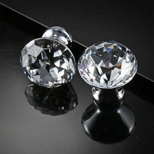 Decoración para el hogar Mueble de cristal de cristal fino Tire de 30 mm de diamante de diamante Cajón de cocina Muebles de cocina Muchos de gabinete
