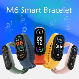 M6 Smart Bracelet Bluetooth 4.0 Screen Heart Rate Blood Fitness Traker Band Sport Waterproof Smart Watch Wristbands For Android IOS