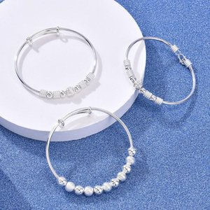 Classic Temperament Lucky Transfer Beads Exquisite Ball Cuff Small Jewelry Bracelet Female Adjustable Gift Bangle