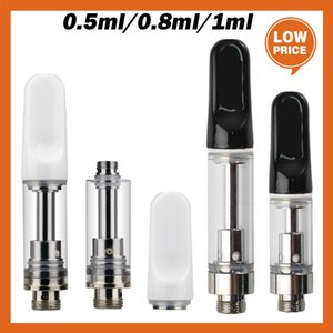 Atomizers Empty Vape Cartridges 0.5ml 0.8ml 1ml Ceramic Glass Thick Oil Dab Pen Wax Vaporizer 510 Thread Carts Atomizer E Cigarettes