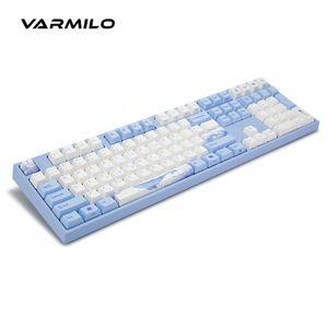 Original Varmilo Sea Melody VA87M MIYA PRO VA108M Wired Mechanical Keyboard Cherry MX Switch Vsilk PBT DYE SUB Keycap No LED Keyboards