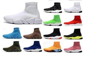 2021 Hız 2.0 Erkek Spor Ayakkabı Yeni Tasarımcılar Lüks Rahat Ayakkabılar Moda Kadın Çizmeler Eğitmenler Üçlü Paris Çorap Ayakkabı En Kaliteli Sneakers