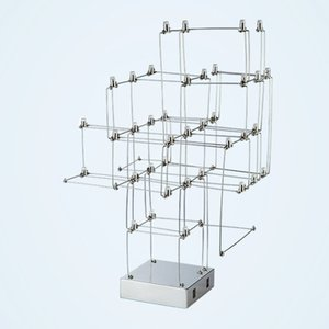 Stainless Steel Wire Decorative Lamp with Led Neutral Light Beads Desk Light Modern Table Lamps for Living Room Bedroom