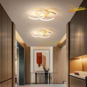 Ceiling Lights Modern LED Lamp Lighting Fixtures Nordic Ring Aisle Light Living Room Interior Loft Deco