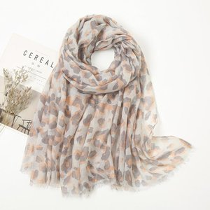 Scarves 90*175cm Two Color Leopard Print Scarf Soft Sunscreen Shawl Beach Towel
