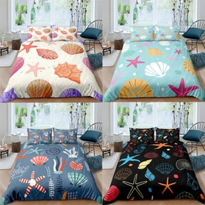 Summer Bedding Set Sandy Beach Duvet Cover 150 Starfish Bedspreads For Child Edredones Niños Girls Quilt 135 Bed Linen Sets