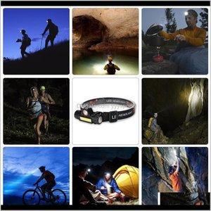 Headlamps Portable Mini Flashlight Q5Cob Led Headlamp High Power Builtin Battery Outdoor Camping Headlight Stepless Dimming Srsc3 Fs2B9