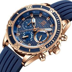 Наручные часы Ben Nevis 2021 Мода Мужские Часы Мужские Резиновые Ремешки Кварцевые Часы Топ Календарь Спортивный Наручный Часы Relogio Masculino