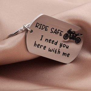 Journée des Père Rit Secure Moto Cléchain Cadeau Cadeau Homme Boyfriend Mois Père Couples Cadeaux Pour New Driver Moker