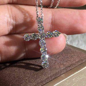 Fashionable Jewellery Shine KYNL082 Crucifix Shape 3A Zircon Necklac for women