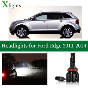 Car Headlights Xlights Led Headlight Bulb For Edge 2011 2012 2013 2014 Low High Beam Canbus Headlamp Lamp Light Accessories 12V 24V