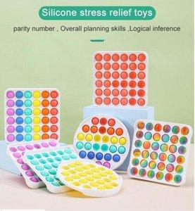 Dekompresyon POP BT Fidget Parti Favor Kemirgen Pioneer Oyuncak Renkli ABS Duyusal Oyuncaklar Gökkuşağı Kabarcık Anksiyete Stres Çocuklar Çocuklar için