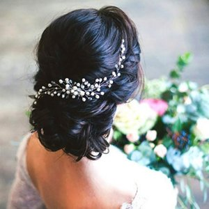 Wedding Head Flower Crystal Pearl Hair Combs Brides Handmade Women Head Ornaments Bridal Hair Clips Accessories Jewelry